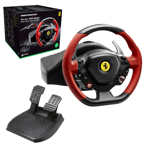 thrustmaster ferrari 458 spider racing wheel for xbox one. Black Bedroom Furniture Sets. Home Design Ideas