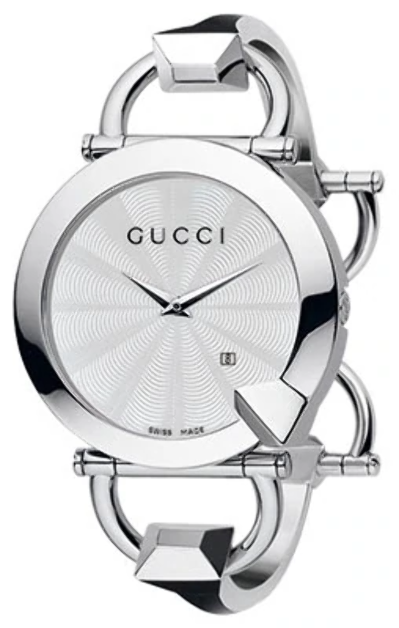 9728d34269a Gucci Chiodo Silver Dial Ladies Watch YA122501  Visible Wear ...