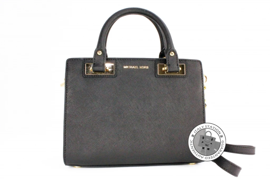 638b1ee0beac Michael Kors 30H5GQNS1L Quinn Small Saffiano Leather Satchel Black ...