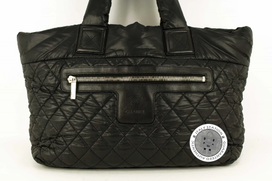 42e11b5ba545 Used Chanel A48611 Y06883 Cocoon Black / 94305 Nylon Tote Bag Shw -  Authentic