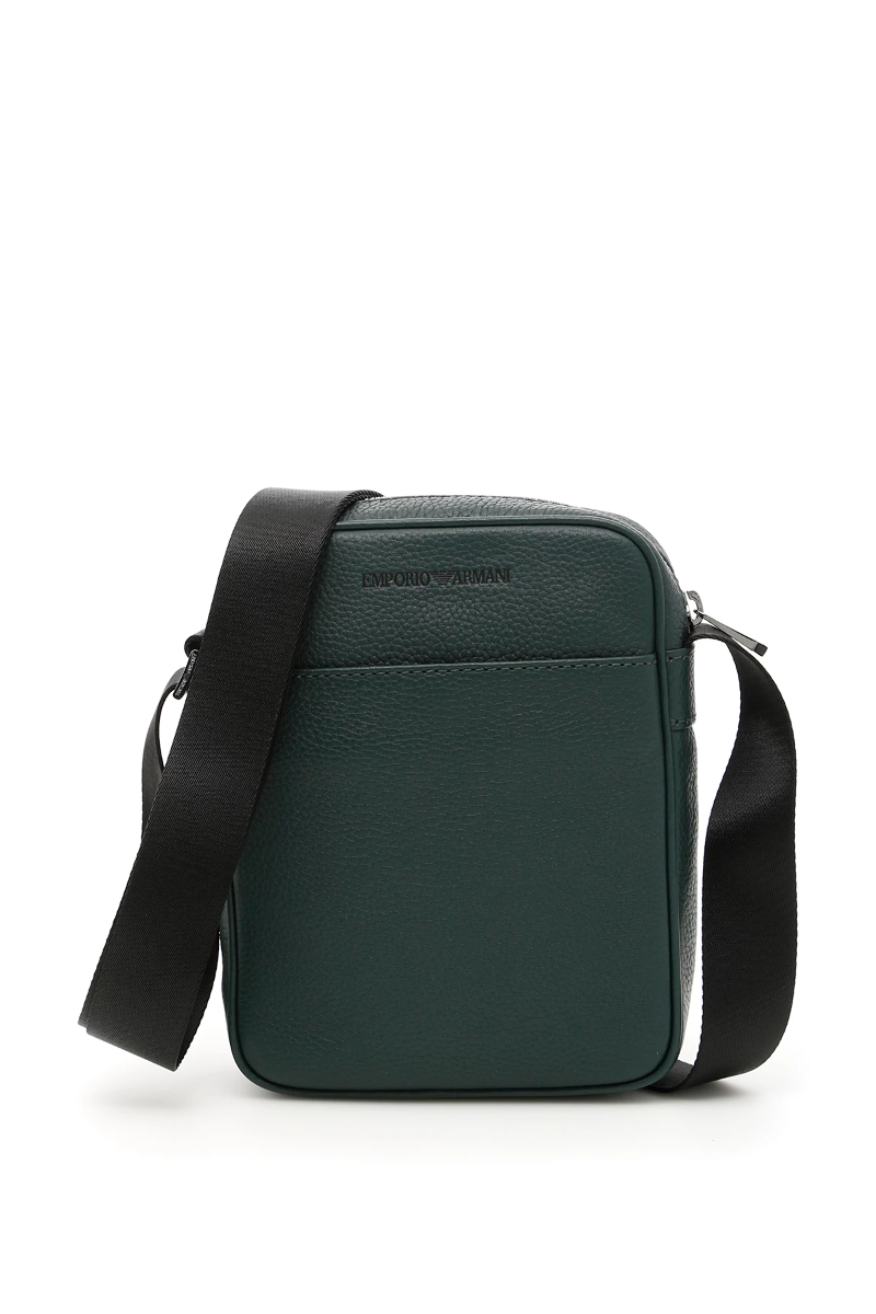 b43ad71bdaaa Emporio armani messenger bag Y4M054 YC89J Bottle Green - Authentic ...