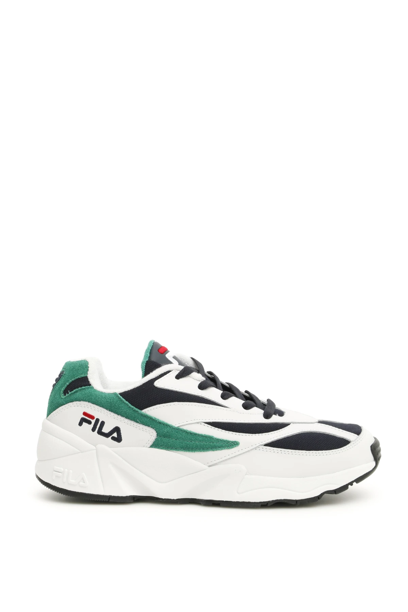 Details about NWT Fila low venom heritage sneakers 1010291 White Green Navy  - Authentic