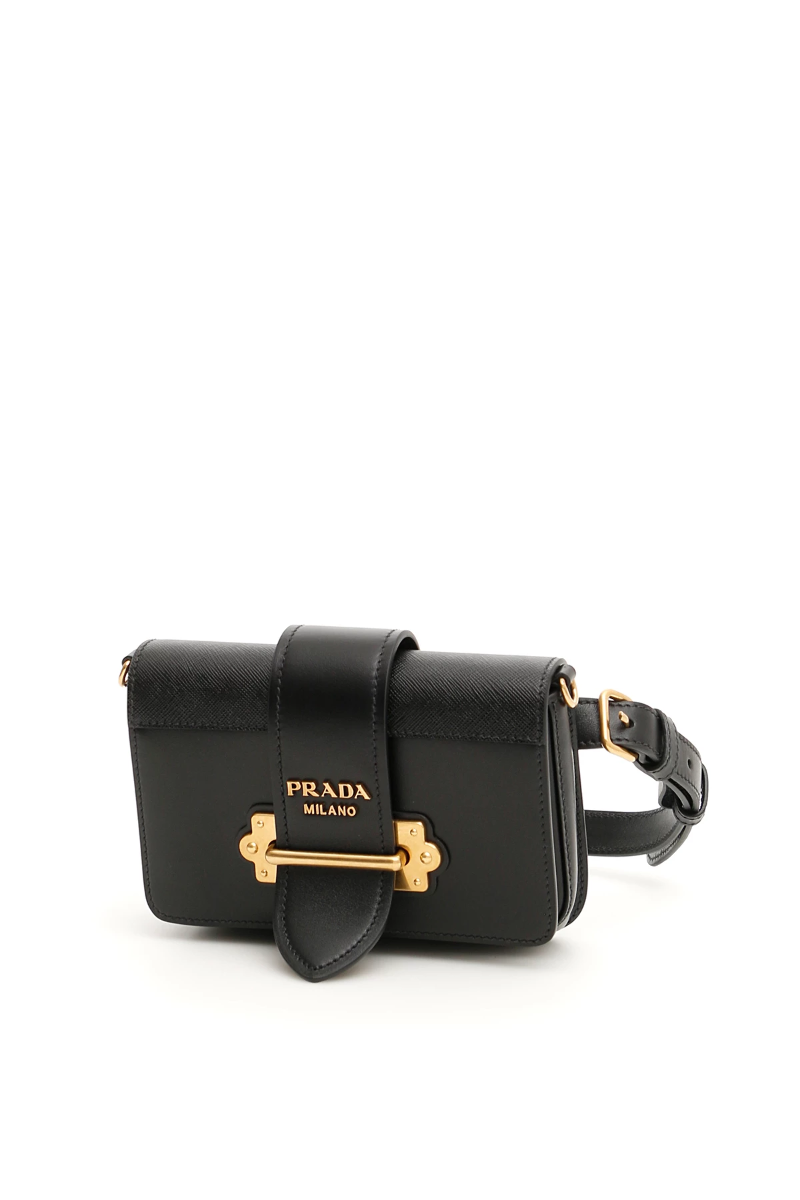 88d1fa154406 Prada cahier beltbag 1BL004 V OCH 2BB0 Nero - Authentic | eBay