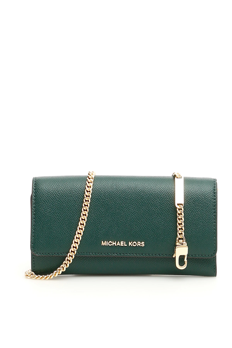 84088d0348bd Michael kors wallet on chain 32H8GF5C3T Rcng Grn Mlt - Authentic