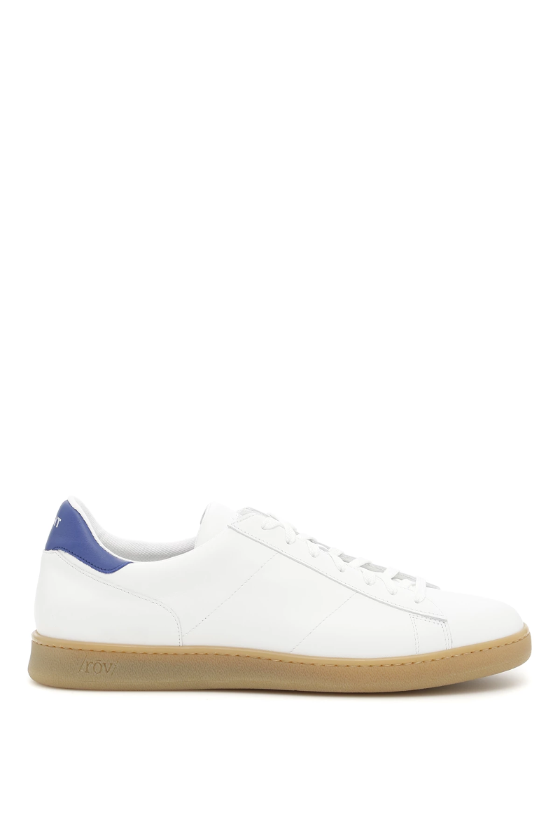 4c7a837c Details about Rov left right leather sneakers 18302 Bianco Ambra Bluette -  Authentic