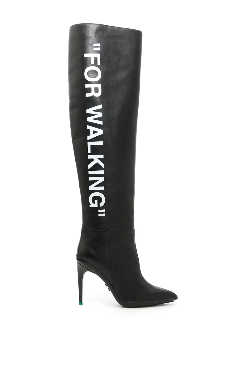 6a36cb33447 Details about Off white for walking leather boots OWIA075R18480173 Black  White - Authentic