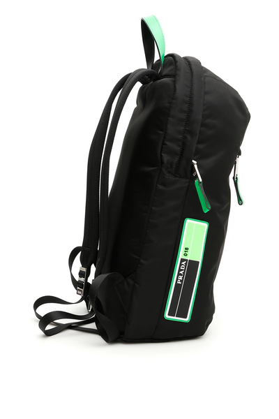 207adf90be0a Prada nylon backpack 2VZ021 V OOO 2BTE Nero Verde Fluo - Authentic ...