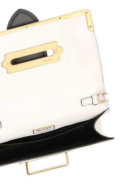 d79501889d4c Details about Prada cahier bag 1BH018 V WCH 2BB0 Bianco Nero - Authentic