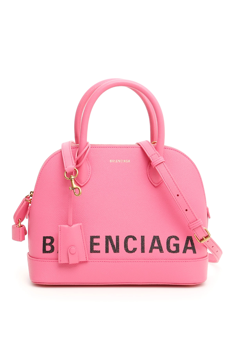 a5f0f9f40b6 Balenciaga ville top handle small bag 550645 0OTDM Pink Bubbl Black -  Authentic
