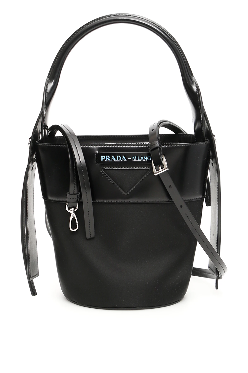 68fb4cbcdc9e3b Prada nylon and leather ouverture bucket bag 1BE015 V OWH 789 Nero -  Authentic