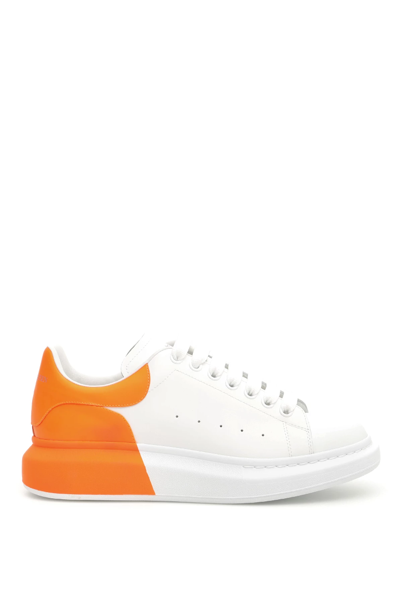 bb7909f4d0 Details about Alexander mcqueen fluo oversize sneakers 556278 WHTQF White  Orange Space - Authe