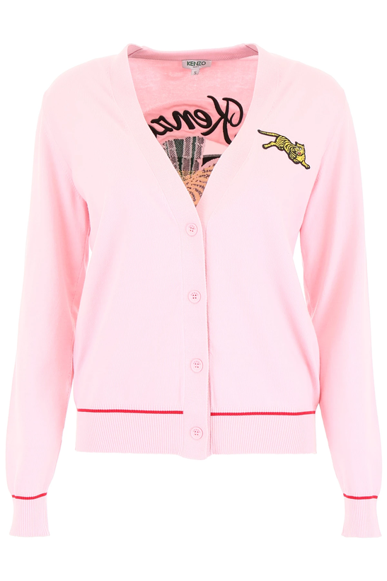 143af307 Kenzo jumping tiger cardigan F952CA5773XE Pastel Pink - Authentic | eBay