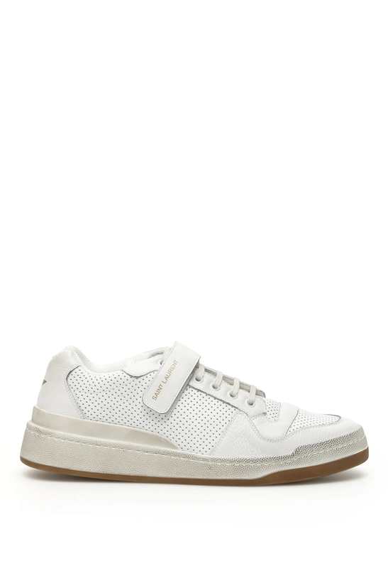 b2a27f97 Details about Saint laurent sl24 sneakers 557624 04L10 Blanc Optique -  Authentic