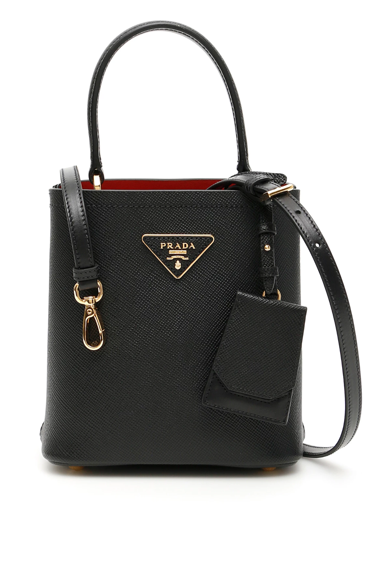 bc0e2c48eff7 Prada double saffiano bag 1BA217 V OOO 2ERX Nero Fuoco - Authentic ...