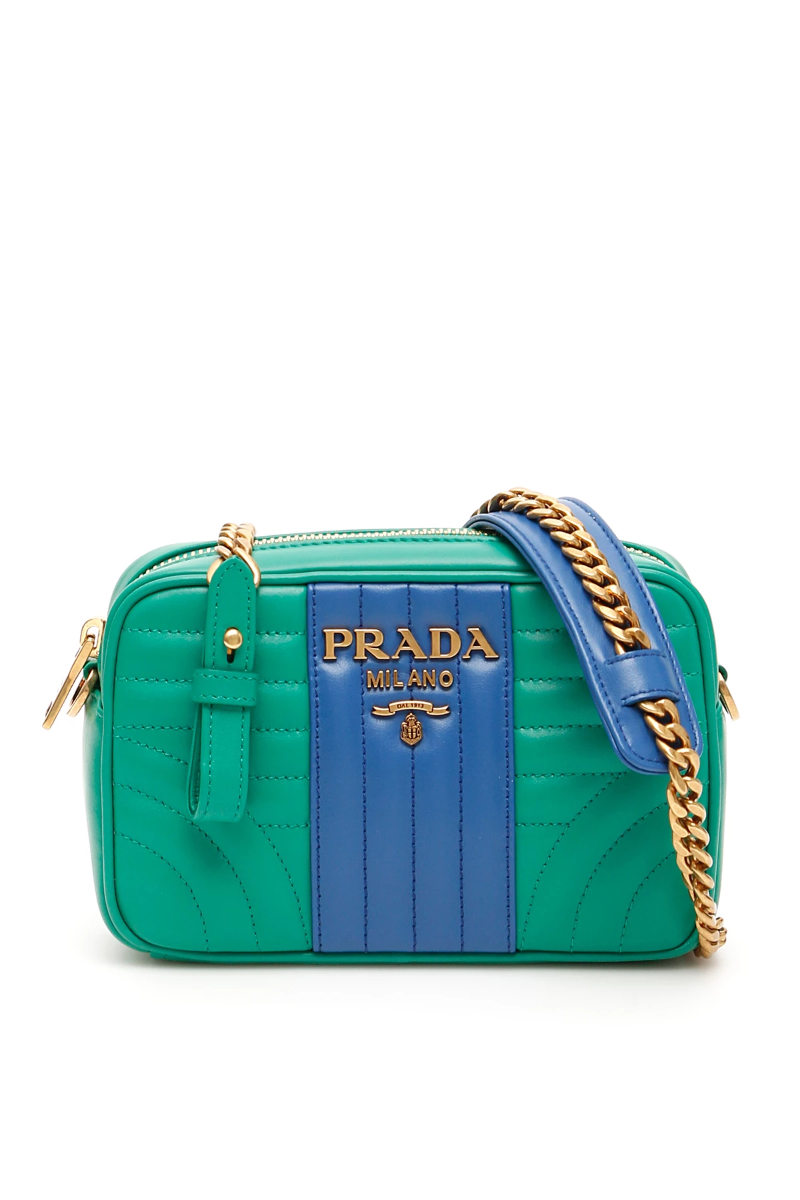 822b46898c8b Prada diagramme crossbody bag 1BH084 V COB 2D91 Mango Azzurro - Authentic