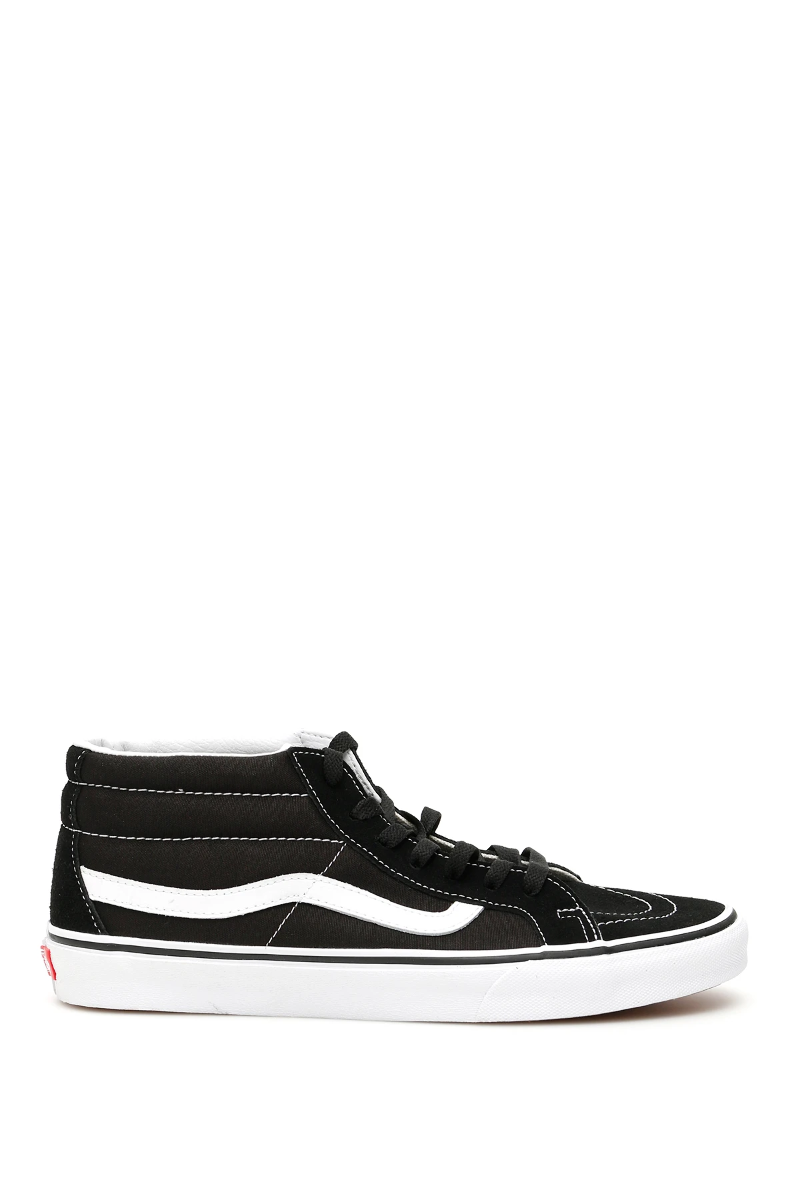 Details about NEW Vans sk8 mid reissue b sneakers VN0A391F6BT1 Black True White AUTHENTIC NWT