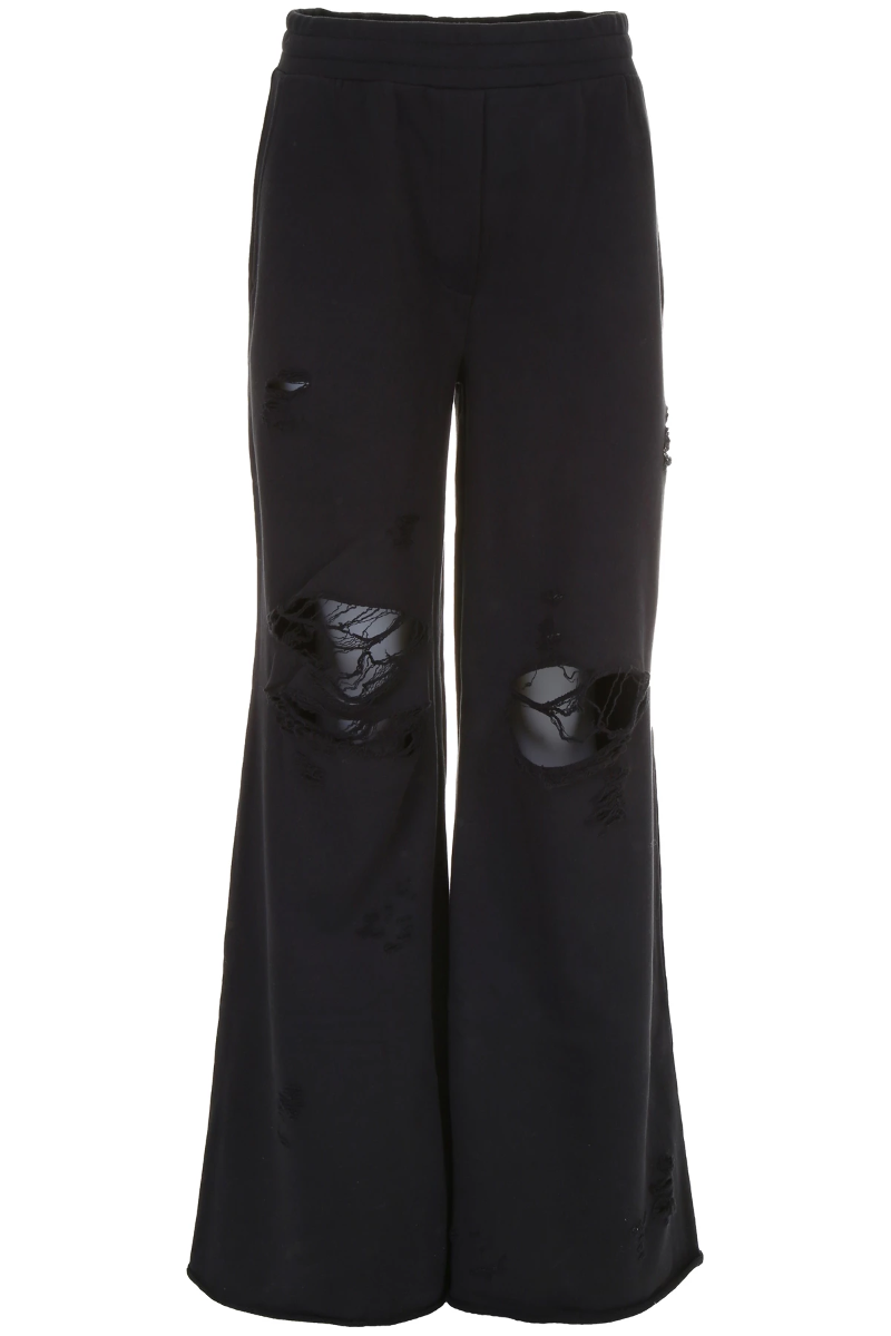 T by alexander wang destroyed terry sweatpants 4C284000B2 Black - Authentic 517918006703d