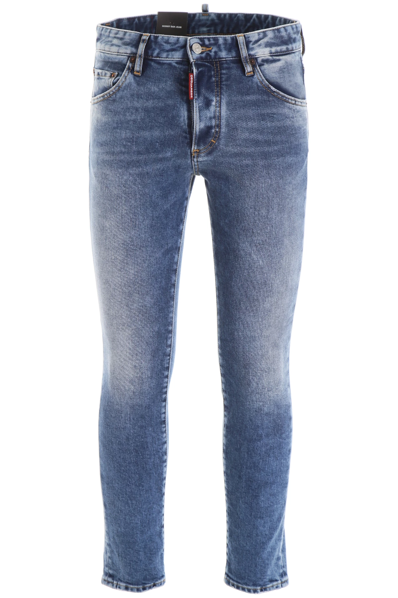 Details about NEW Dsquared2 bleached skinny dan jeans S74LB0569 S30663 Blue AUTHENTIC NWT