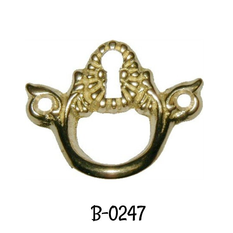Keyhole Cover Pull Cast Brass Victorian Style Key Hole Pull Antique Escutcheon