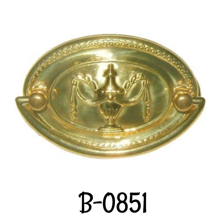"""PAIR NEW OLD STOCK OVAL STAMPED BRASS ESCUTCHEONS KEYHOLE COVERS 1 1//2/"""" x 1/"""""""