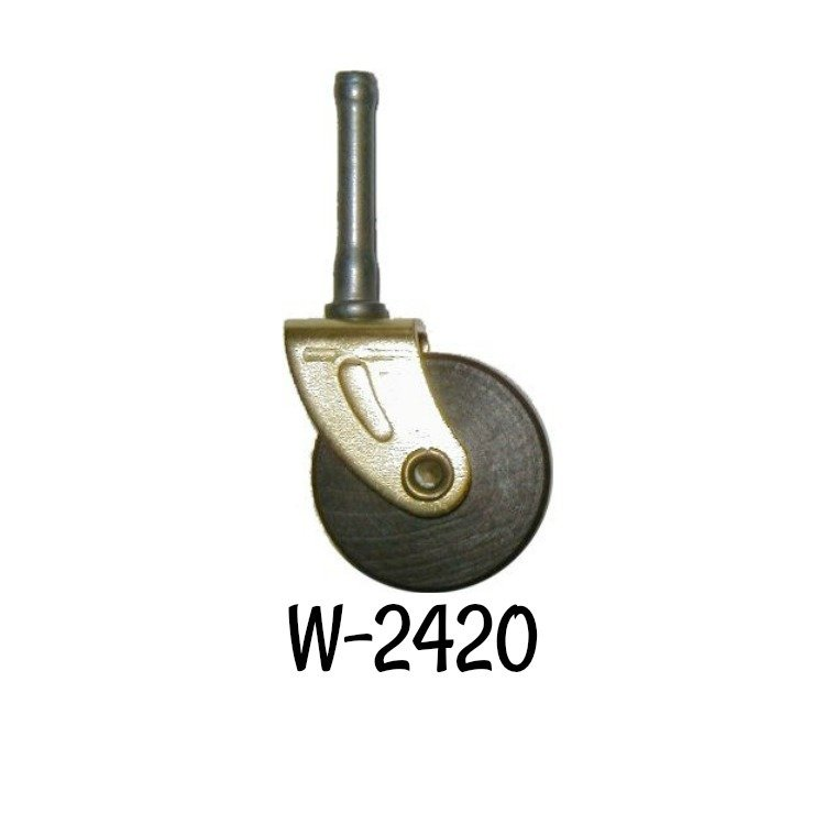 P-2413 QTY 1 PORCELAIN WHEEL CASTER WITH CAST IRON FORK