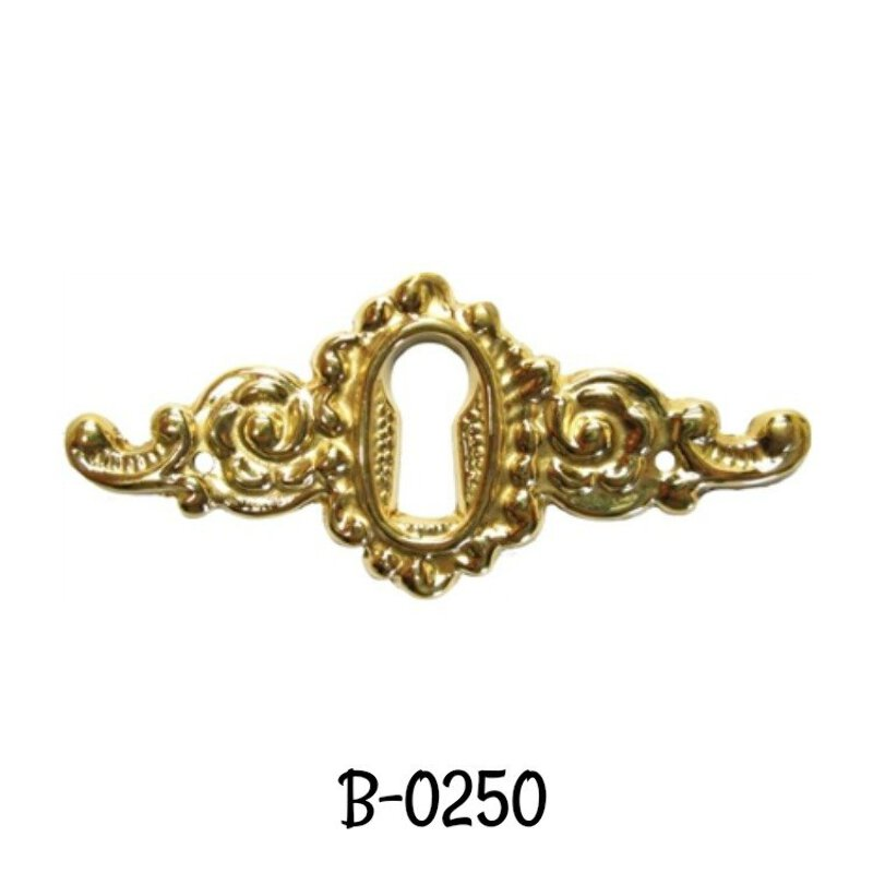 Keyhole Door Pull Cast Brass Victorian Style Keyhole Pull Antique Style