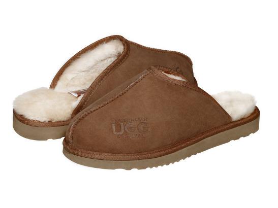 AUSTRALIAN UGG ORIGINAL Classic hard sole mens ugg scuffs. Made in Australia .