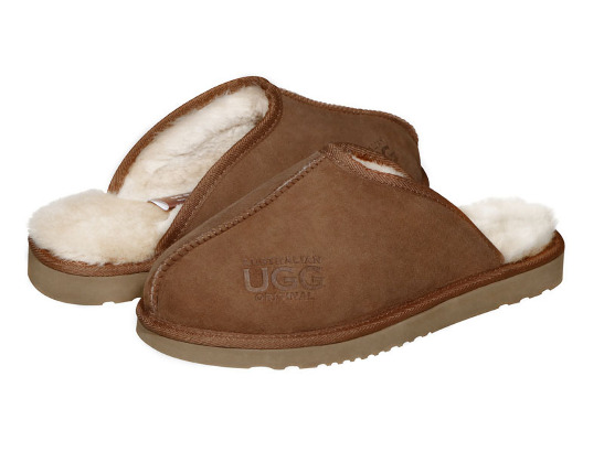 AUSTRALIAN UGG ORIGINAL Classic hard sole mens ugg scuffs. Made in Australia .