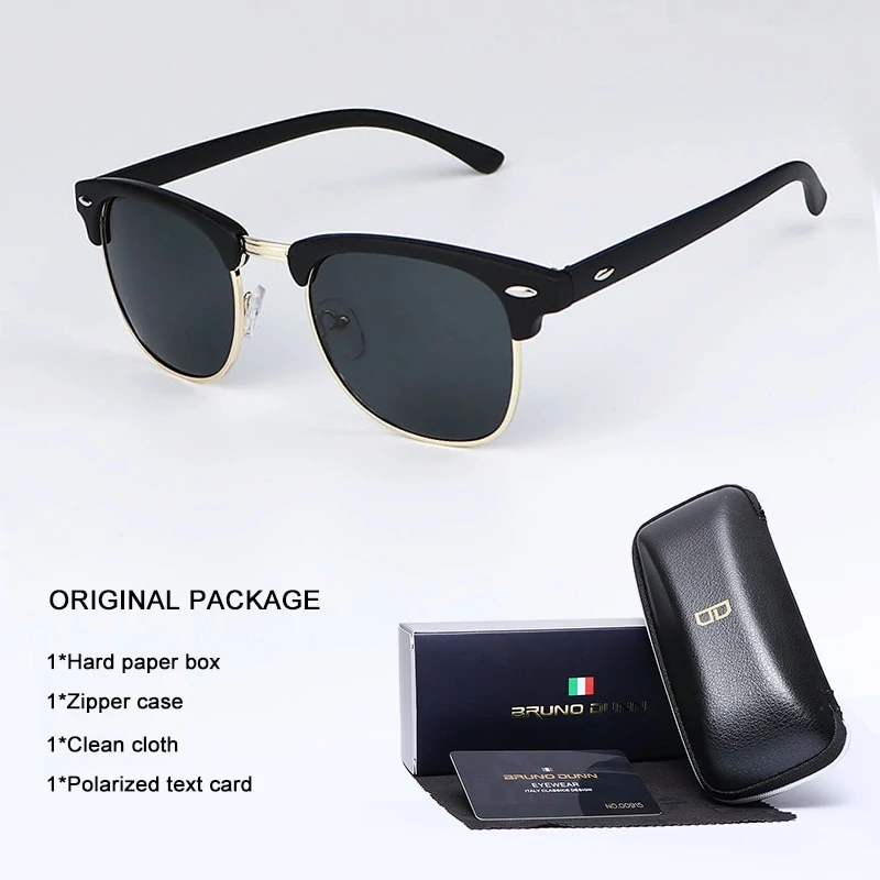 a403490b8 Bruno Dunn Sunglasses Men Women polarized Brand Design Sun Glasses ...