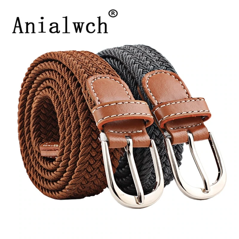 Men Women Casual Belt Fashion Outdoor England Style Luxury Canvas Knitted Woven
