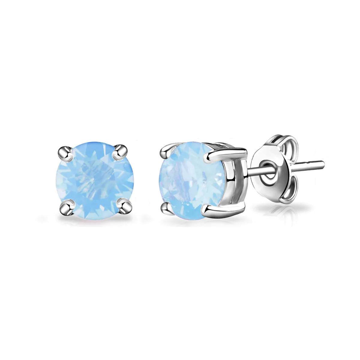 Pendientes de Ópalo Azul de aire creado con cristales de Swarovski ®