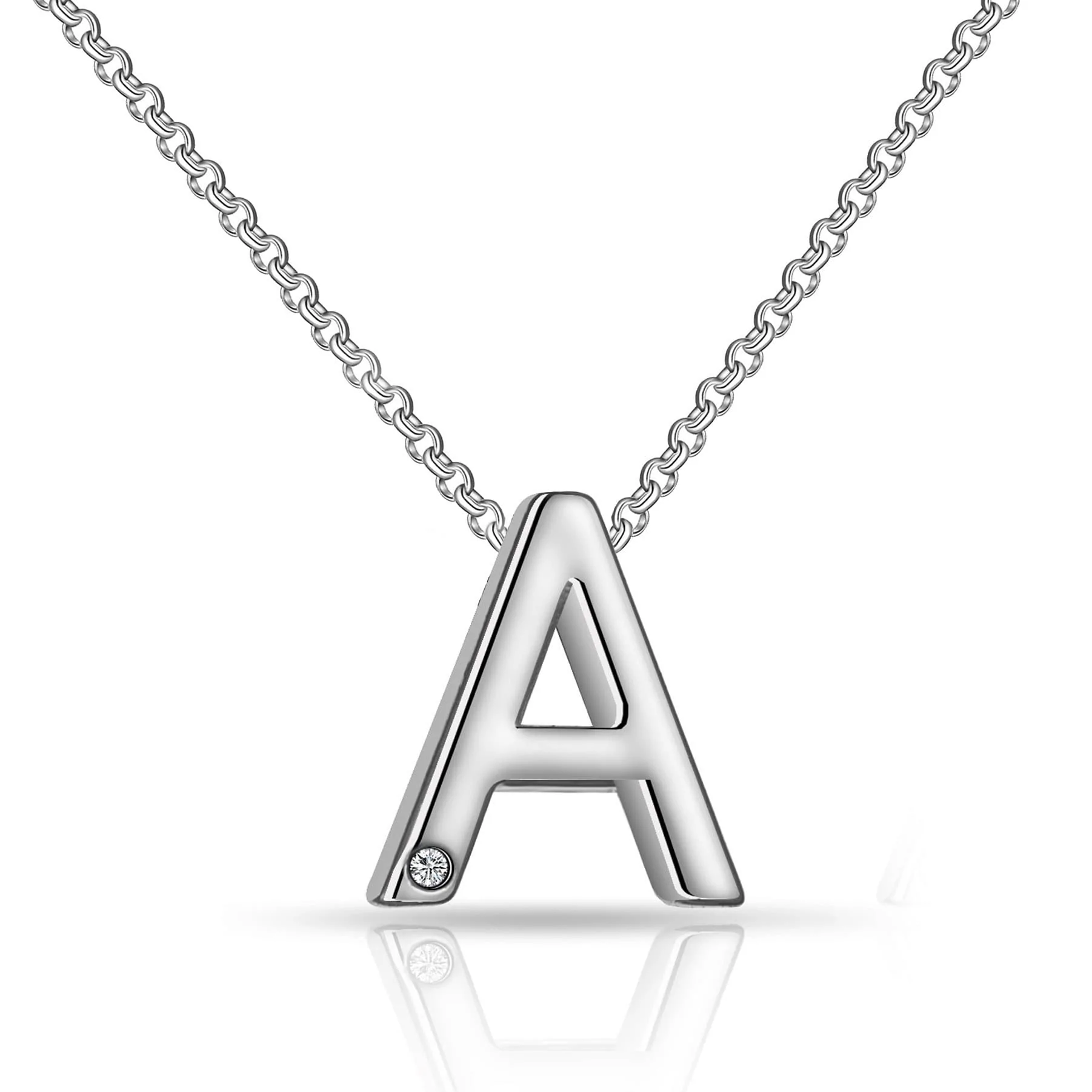 623529c6d Initial Necklace Letter A Created with Swarovski® Crystals ...