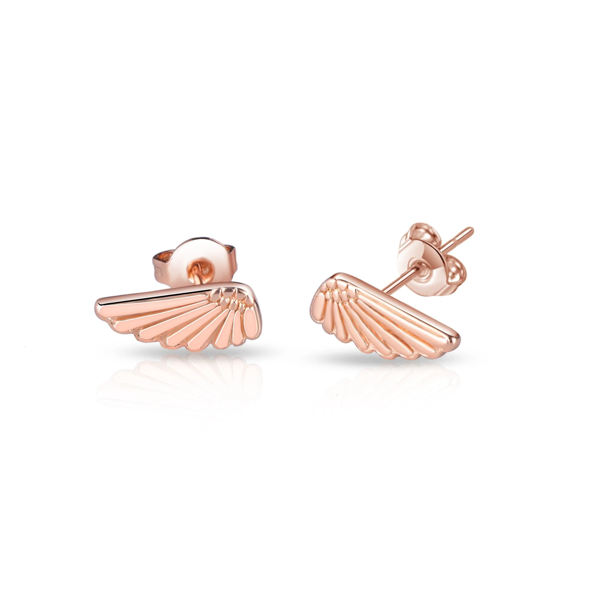 063b08ebba5dc Details about Rose Gold Angel Wing Earrings
