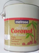 Coconut Oil Organic Unrefined-  Melrose 1.8kg