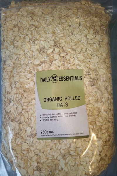 Daily Essentials Organic Rolled Oats 750g