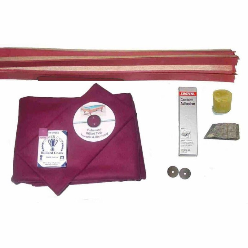 Pool Table Recovering And Refelting Kit Proline Classic 303 Wine Ebay