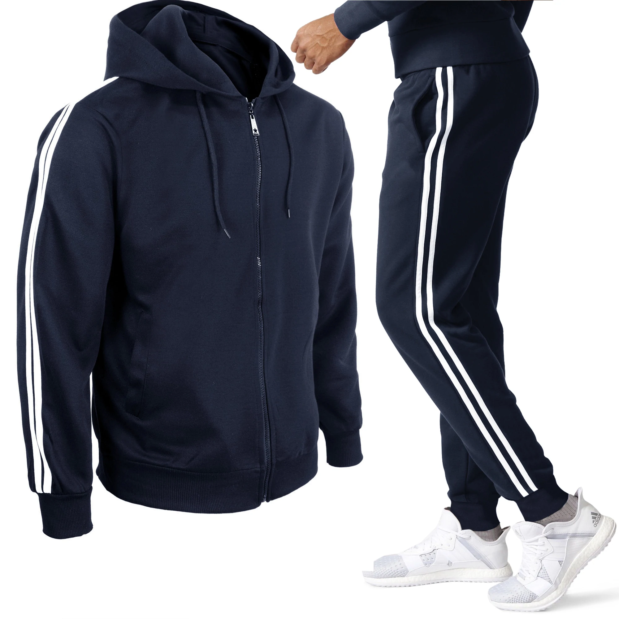 Girogama Tuta Sportiva Uomo Casual Giacca con Cerniera Pantaloni Basic 6761