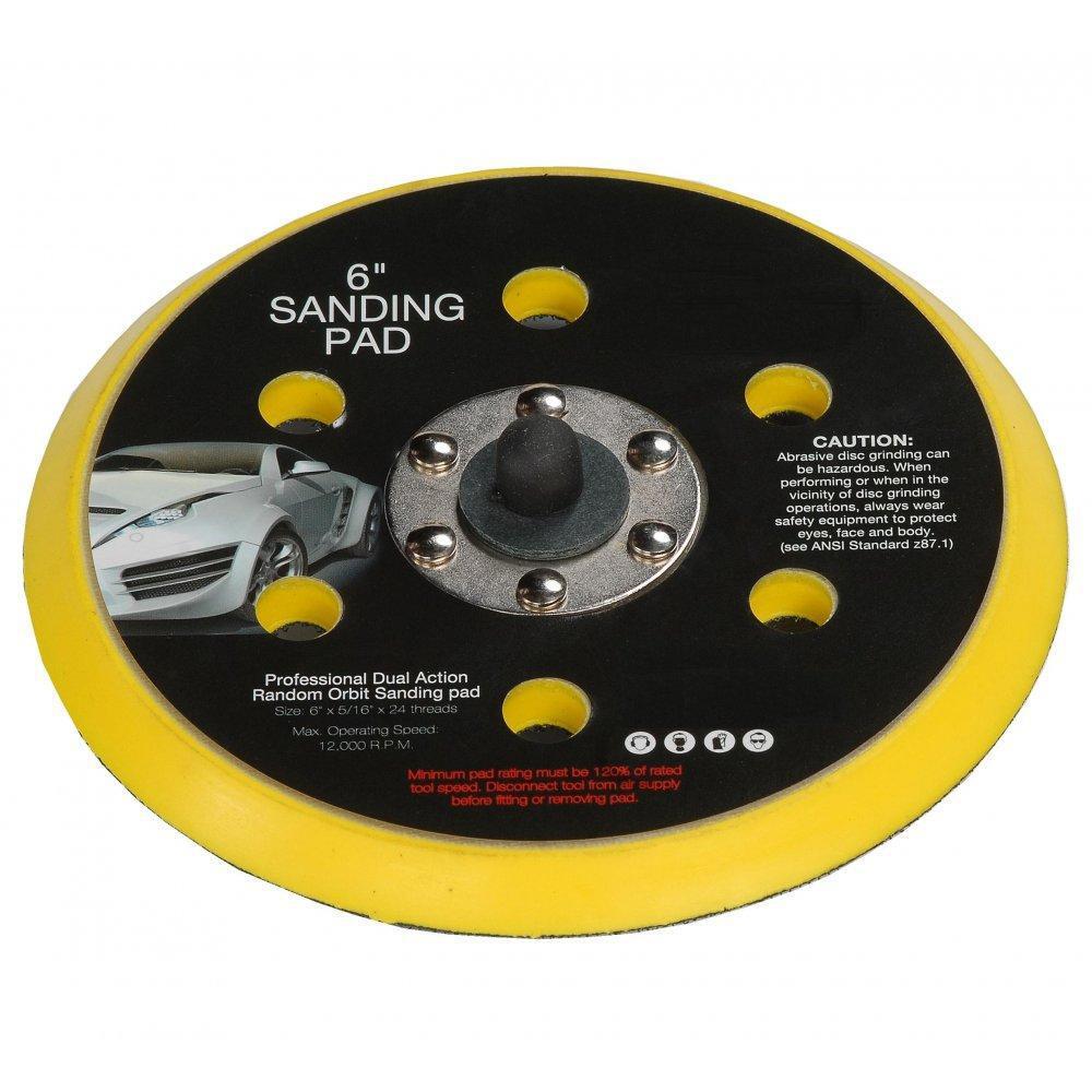 6 150mm Hook And Loop Dual Action Random Orbital Sanding Pad 5//16 6 Hole