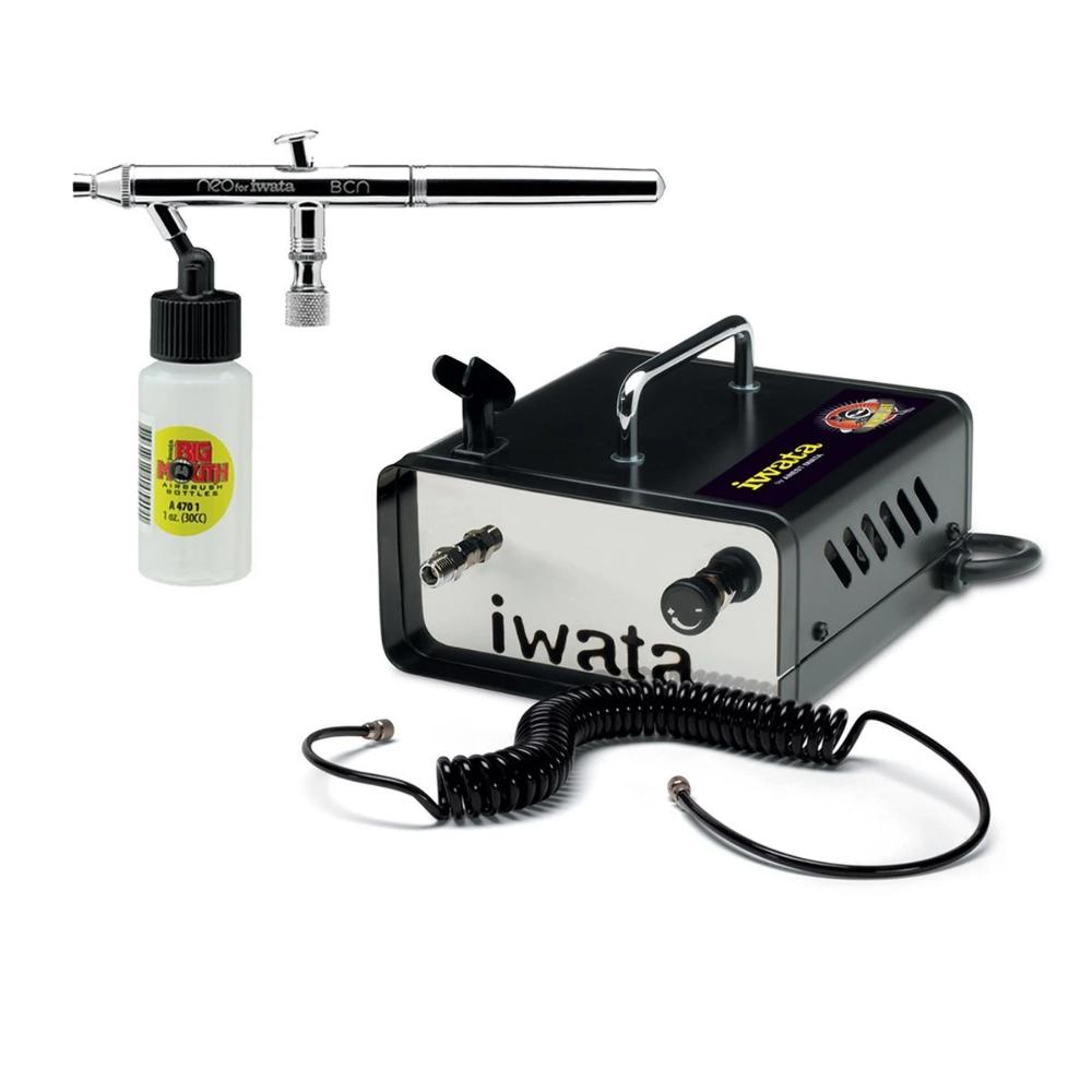 Iwata Airbrush Kit >> Details About Anest Iwata Neo Air Brush Ninja Jet Air Compressor Kit Spray Tan Auto Beauty