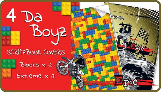 Kids School Book Covers 4 Da Boyz Slip On Pvc Scrapbook Covers 4