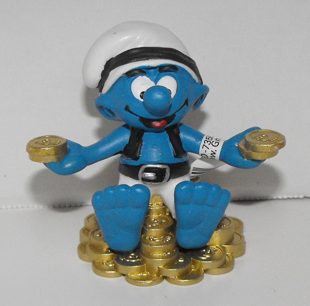 20764 Ship/'s Cook Smurf Figurine from 2014 Pirate Set Plastic Miniature Figure