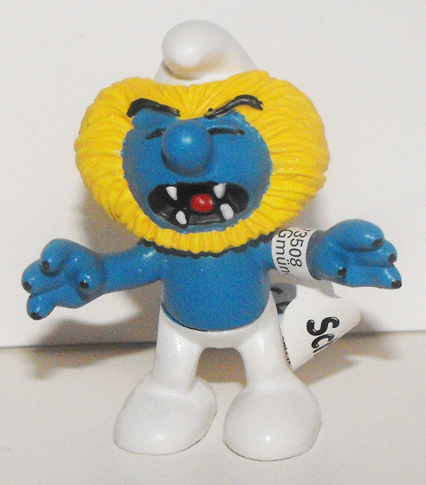 Smurfs 20724 Leo Smurf Lion Zodiac Astrology Figure Vintage Horoscope Figurine