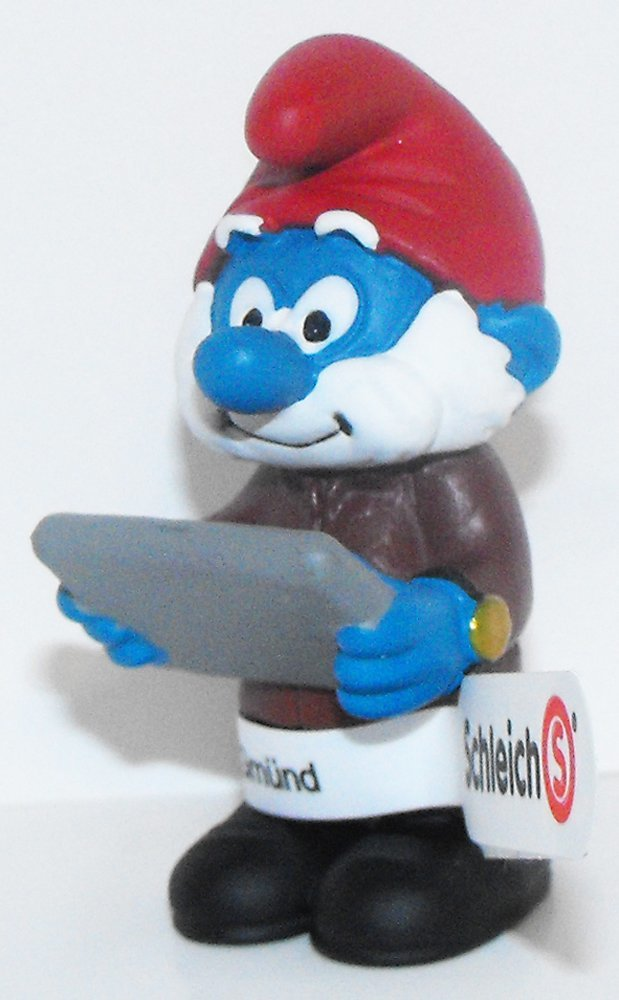 20772 Accountant Smurf Figurine from 2015 Office Set Plastic Miniature Figure