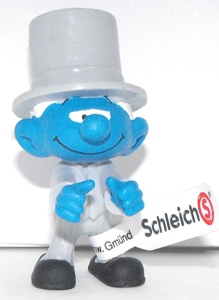 Bridegroom Smurf Plastic Figurine 20796 FROM OCCASIONS SMURF SET Wedding Groom