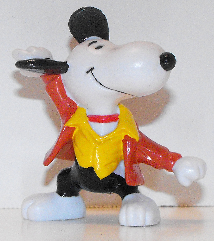 Snoopy Holding His Supper 2 inch Figurine Peanuts Miniature Figure 22002