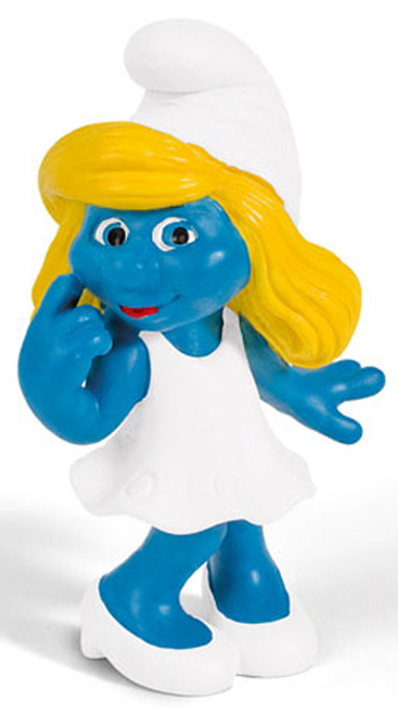 20755 Smurfette Girl Figurine from 2013 Smurfs 2 Movie Plastic Miniature Figure