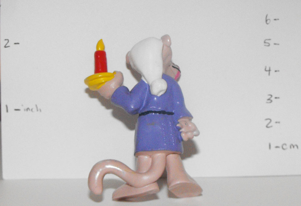 Pink Panther in Purple Robe with Candle 2 inch Figurine