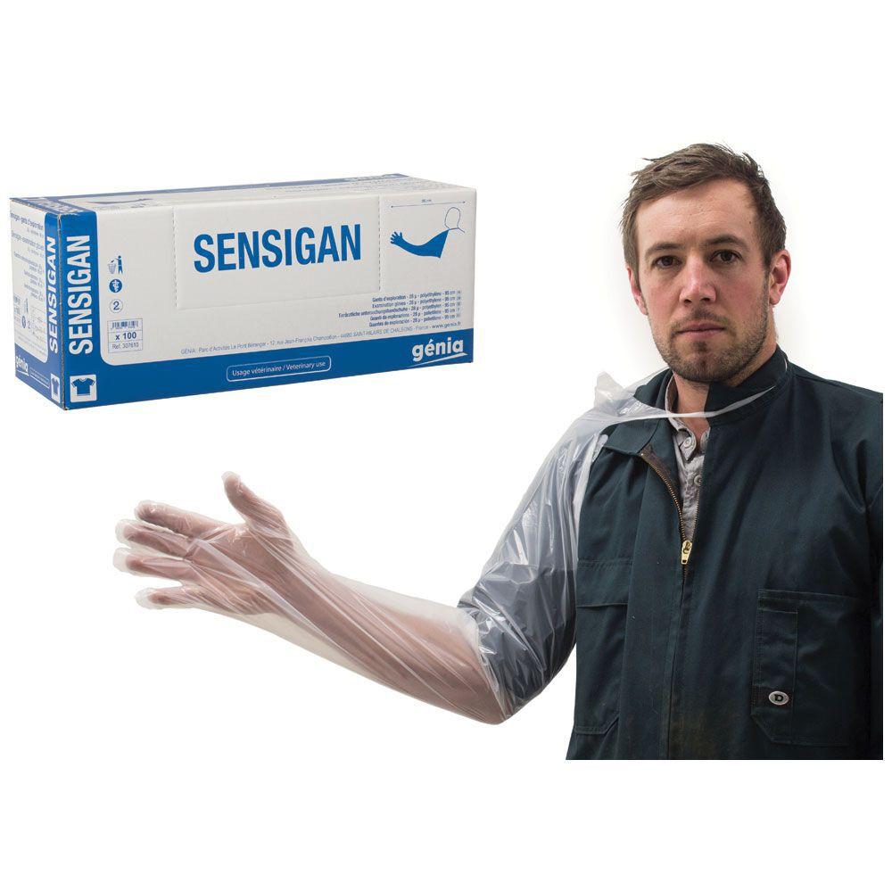 Clear Shoof Gloves Exam Genia Sensigan 100pk
