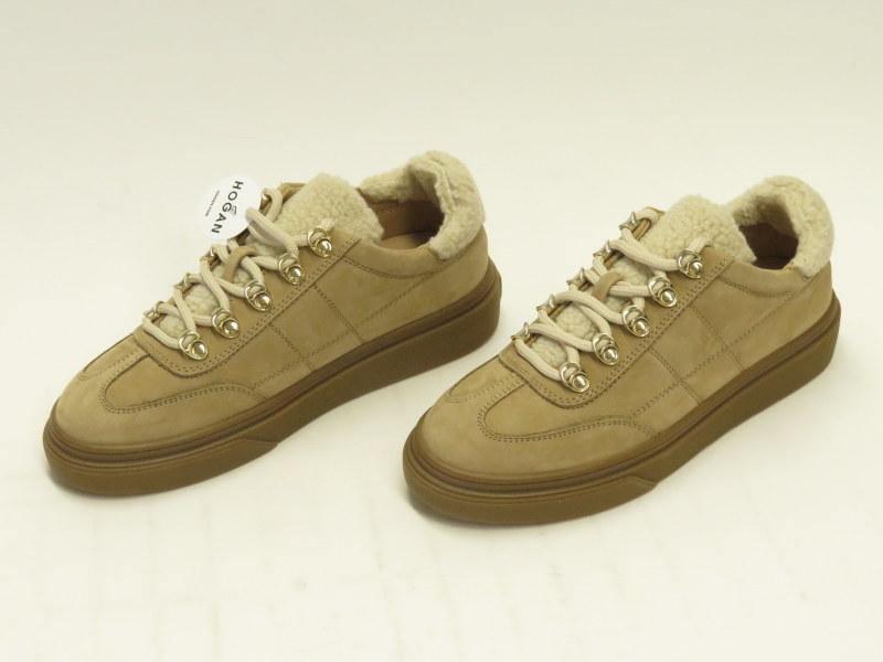 hogan shearling sneakers