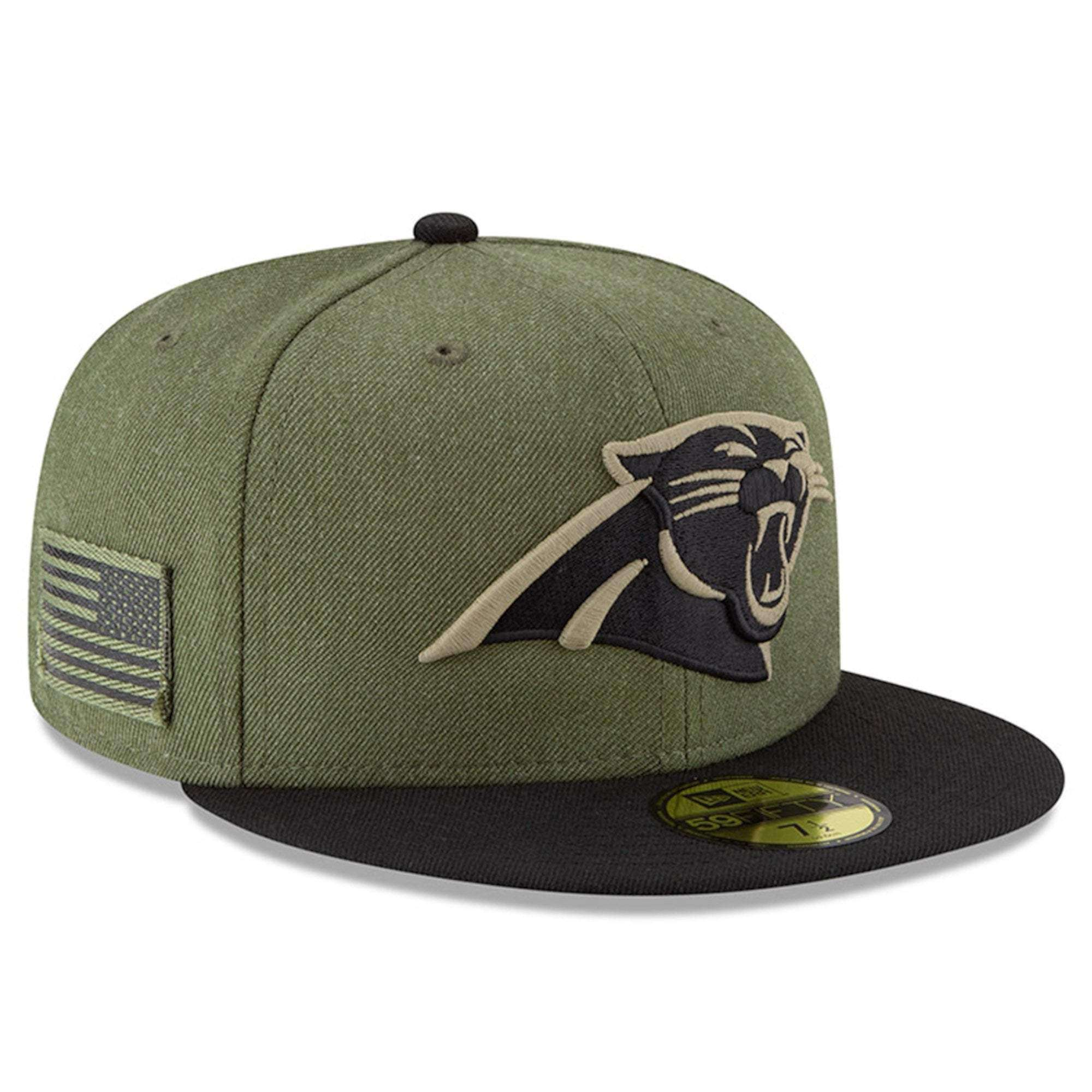 565627186 ... coupon code carolina panthers new era nfl 2018 salute to service  59fifty fitted hat olive 91243